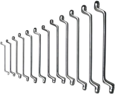 Doppelringschlüsselsatz, 6-32 mm, gekröpft, 12-teilig