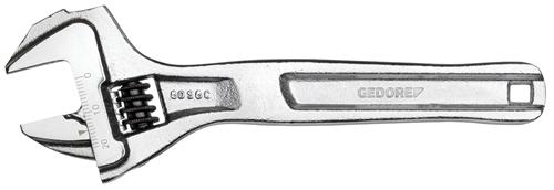 Einmaulschlüssel, verstellbar, verchromt
