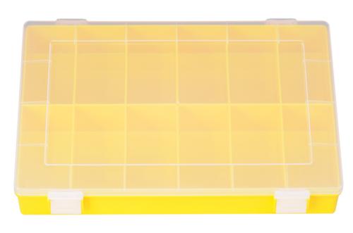 Sort-kasten PP-CLASSIC, 12 Fächer,225x335x55 mm, gelb