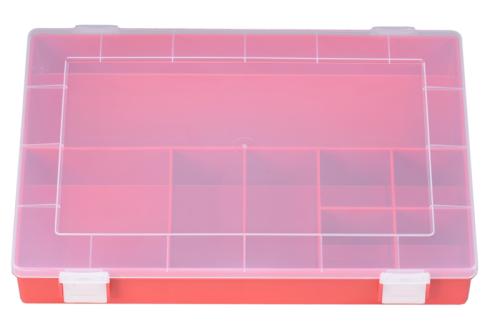 Sort-kasten PP-CLASSIC, 8 Fächer,225x335x55 mm, rot