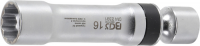 Zündkerzen-Gelenkeinsatz Zwölfkant mit Haltefeder | Antrieb Innenvierkant 10 mm (3/8